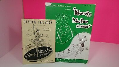 Rockefeller Center 1950 Howdy Mr. Ice Vintage Program Guide Lot