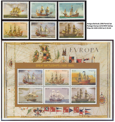 Antigua-Barbuda 1996 Partial Set Postage Stamps (2/3) MNH Sailing Ships SG 2283-