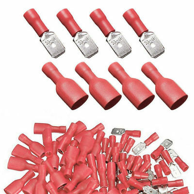Crimp Terminals Car 0.5 -1.5mm Splice Spade Insulated Connector Electrical Red