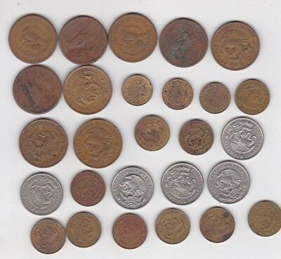 Lot of Vintage COINS from MEXICO 1940s - 1970s MIXED Collection