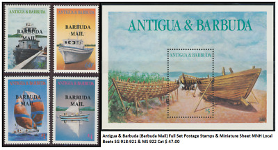 Antigua & Barbuda (Barbuda Mail) 1987 Full Set Postage Stamps & Miniature Sheet