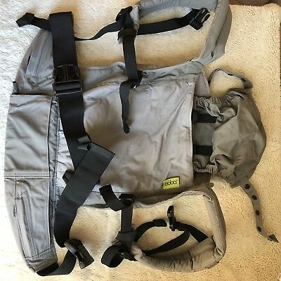 Boba Adjustable Baby Carrier 7-45lbs Dusk Gray Front/Back Natural Cotton