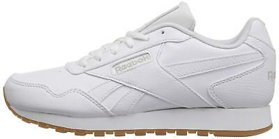 Reebok Womens Harman Run Low Top Lace Up Running, White/Steel/Gum, Size 8.0