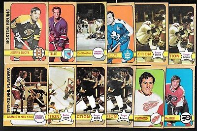 1972-73 Opc O Pee Chee Nhl Hockey Card + Error & Variation 1-110 See List