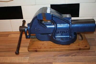 VINTAGE RECORD No 34 ENGINEERS VICE WITH QUICK RELEASE AND ANVIL