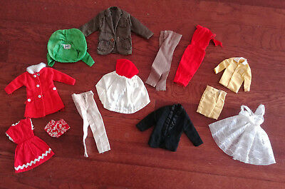 Barbie Doll Vintage Clothing Mixed Lot - Needs Lots Of Tlc