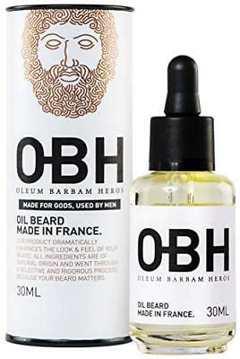 Huile à Barbe 100% Naturelle OBH ® ● Made in Provence - France ● Soin Premium...