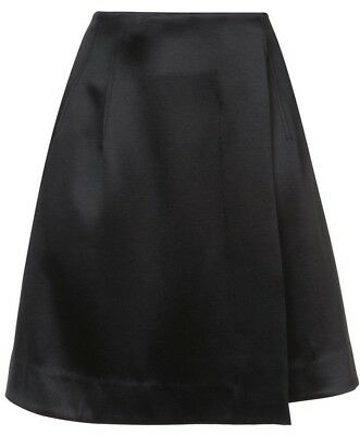 ea2ad7aaafe2 $368 NEW Diane von Furstenberg DVF High Waist Flare Mini WRAP Skirt Black 2  4 8
