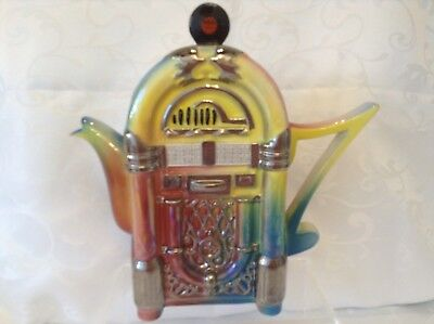 Teapottery Swineside Novelty Collectable Large Jukebox Teapot Great Condtion