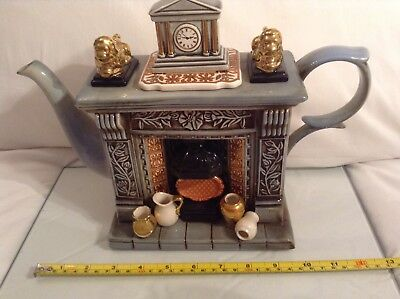 Cardew Collectable Novelty Lge Teapot Classical Fireplace Titan Flueback Ltd Ed