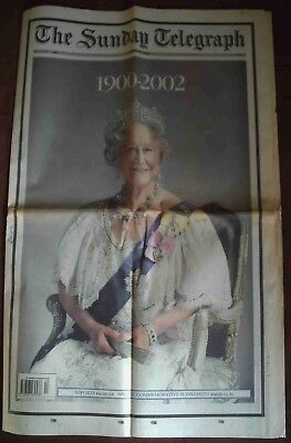 Sunday Telegraph - Queen Elizabeth the Queen Mother 1900 - 2002