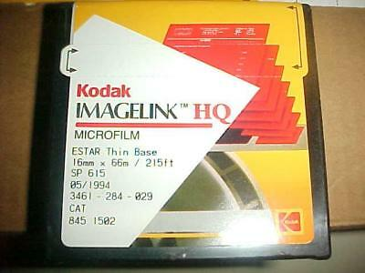 19 NOS KODAK MICROFILM IMAGELINK HQ ESTAR Thin Base 16MM X 66m 215ft SP 615