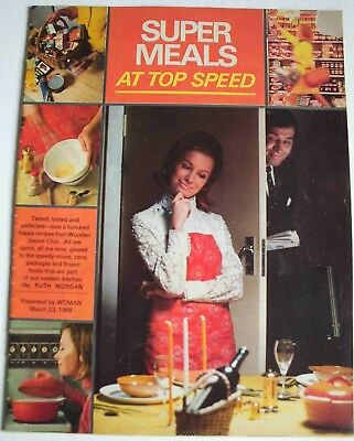 Vintage 1968 Super Meals Top Speed Ruth Morgan cook book recipes Woman Magazine