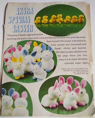 Vintage 1960s recipes - Easter sweets, chocolates, eggs, chicks and bunnies