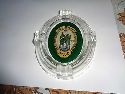 "Vintage Greene King Fine Ales Clear Glass Ashtray Bar Beer Advertising 8"" x 6"""