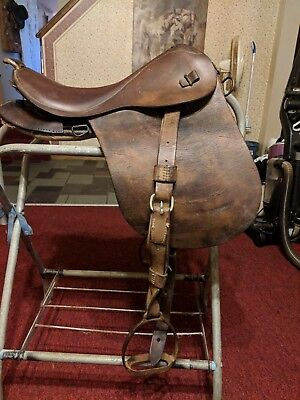 Rare Wwii Military Cavalry Saddle.. Hard To Find Piece Of History