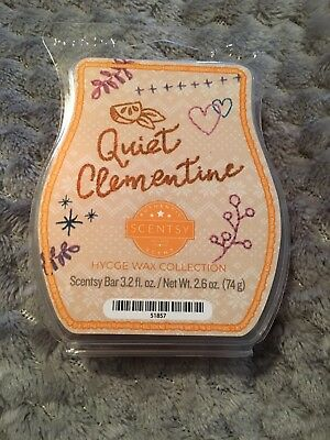 New Scentsy Bar Quiet Clementine 3.2oz Hygge Wax Collection