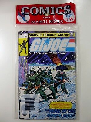 Marvel GI JOE A Real American Hero #2 26 27 SEALED 3-Pack Key SNAKE EYES Orig NM