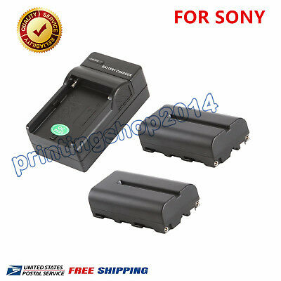 F550 2200mAh Replacement Li-ion Battery (2pack) + Charger For Sony Camera