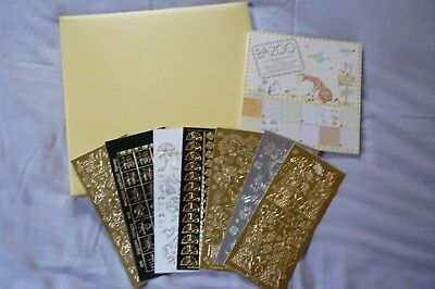 """12"""" Sq Pocket Scrapbook With Bazoo 8"""" Sq Papers  ** Free Peel Offs **"""