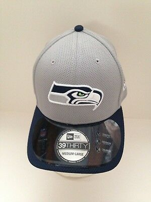 check out 86383 9f1c2 Seattle Seahawks New ERA 39Thirty 2015 Training camp Stretch fit hat M L  Gray