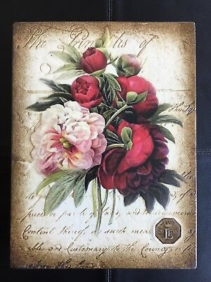 Sid Dickens Limited Edition 2018 - Retired, Peonies, Pink & Red Flowers (Rle03)