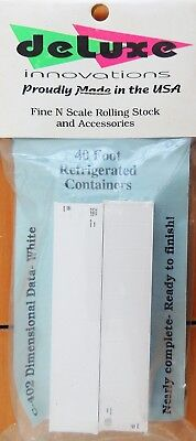 New Deluxe Innovations N Scale 2 Pack White 40' Refrigerated Containers