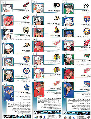 2018 19 Upper Deck Series 1 Rookie Young Guns Lot Of 21 Cards