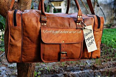 Top Quality Handcrafted Genuine Leather Travel Bag New Duffle Gym Sport Luggage