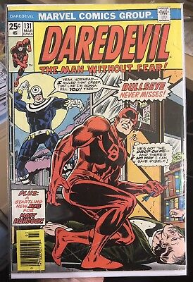 Daredevil #131 1st Appearence Of Bullseye & The Rose VG- Free Shipping