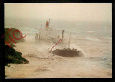 Picture Postcard: American Oil Tanker Braer, Running Aground 1993 [Abba]