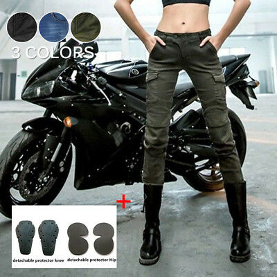 3 Colors Pants Motorcycle Trousers Combat With 4 Pads Jeans Denim New Newest
