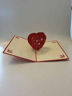 Valentines Day 3D Pop Up Card Rose Flowers Card UK Stock