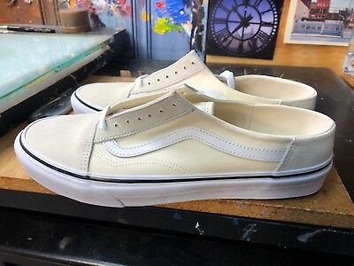 Vans Old Skool Mule Classic White True White Size US 10 Men s VN0A3MUSFRL 5978f3a3b