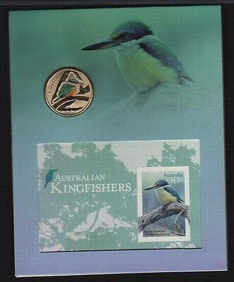 Australia Sacred Kingfisher Imperf Sheetlet & matching Coin Limited Ed. 236/300