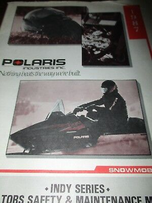 Polaris Indy Series Snowmobiles Operator's Safety & Maintenance Manual 1987