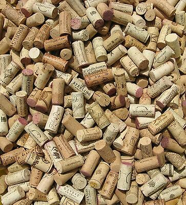 135 Used Fine Natural Wine Corks Weddings Crafts Wreaths Boards for Charity
