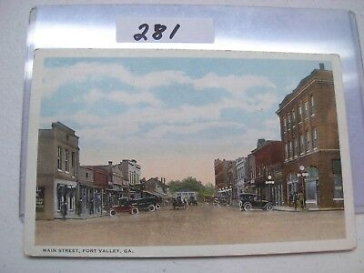 Postcard Georgia,fort Valley,main Street,early 1900's #281
