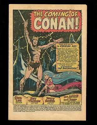 Conan the Barbarian #1 Coverless Barry Smith 1st & Origin Conan 1st King Kull