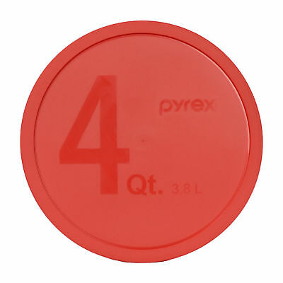 Pyrex 326-PC Red 4Qt Red Round Plastic Storage Lid Cover for Glass Mixing Bowl