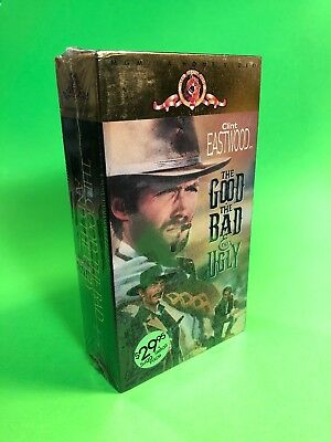 The Good, the Bad and the Ugly (VHS, 1991, 2-Tape Set) CLINT EASTWOOD Sealed NEW