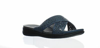83bfea6dbec5 SOFTWALK TILLMAN CROSS Strap Sandals S1502-023 Women Slide-On Black ...
