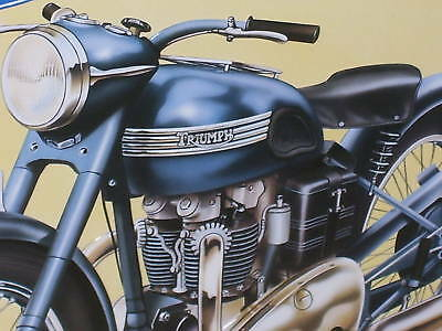 TRIUMPH Thunderbird -OLD SIGN from ENGLAND Dated1993 -SHOWS DETAIL of Motorcycle