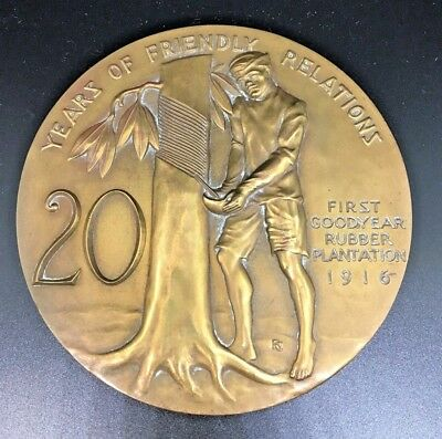 GOODYEAR 20 Years of Friendly Relations MEDAL 1916