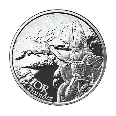 1 Oz Silver Coin Thor-Valkyrie Norse Gods #2 In Series Viking Anonymous Mint Coa