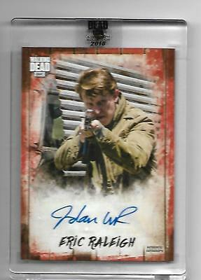 #1/1 Walking Dead SEALED Autograph Red JORDAN WOODS ROBINSON Auto ERIC RALEIGH S