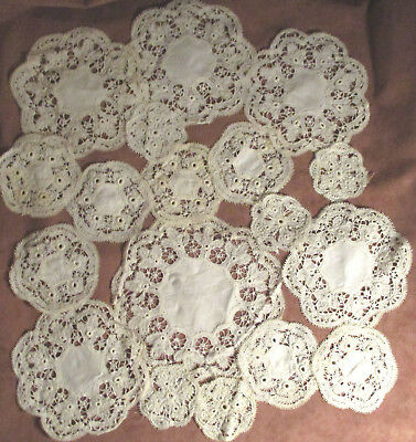 Lot of 18 Vintage Lace Doilies - Different Sizes - DIY Doily Collage