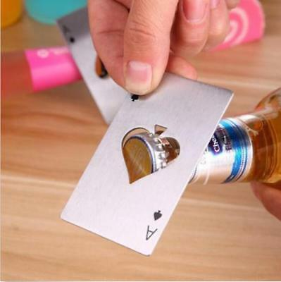 Playing Card Ace of Spades Poker Bar Tool Bottle Soda Beer  Tool Cap Opener Men