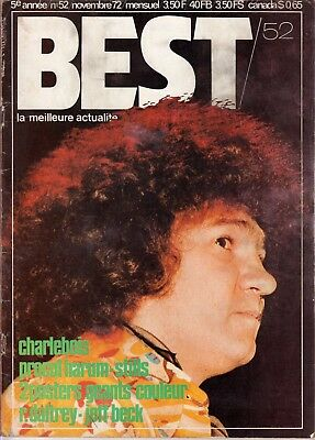 Best Magazine November 1972 Robert Charlebois Ray Davies The Who Procol Harum