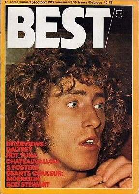 Best Magazine October 1972 The Who Roger Daltrey Hot Tuna BB King Roberta Fleck